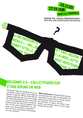 Einsichten - Flyer - Malte Christensen