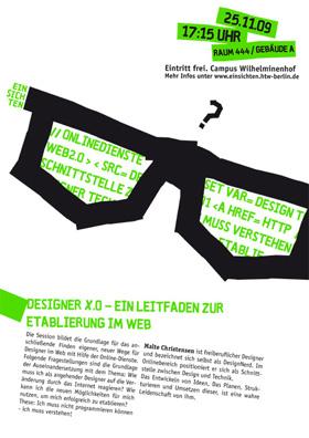 Einsichten - Flyer - Malte Christensen